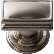Atlas Homewares - 377-BRN - Campaign Rectangle Knob 1 1/2 Inch - Brushed Nickel