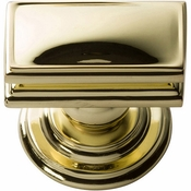 Atlas Homewares - 377-PB - Campaign Rectangle Knob 1 1/2 Inch - Polished Brass