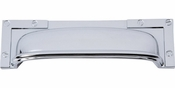 Atlas Homewares - 382-CH - Campaign L-Bracket Cup Pull 3 3/4 Inch - Polished Chrome