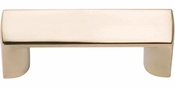 Atlas Homewares - 400-FG - Tableau Squared Handle 1 7/16 Inch - French Gold