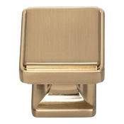 Atlas Homewares - A200-WB - Kate Knob 1 1/8 Inch - Warm Brass