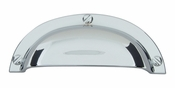 Atlas Homewares - A818-CH - Bin Cup Pull 64 MM CC - Polished Chrome