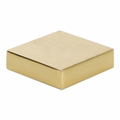 Atlas Homewares - A833-FG - Thin Square Knob 1 1/4 Inch - French Gold
