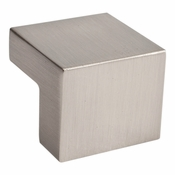 Atlas Homewares - A865-BN - Small Square Knob 16MM CC - Brushed Nickel