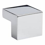 Atlas Homewares - A865-CH - Small Square Knob 16MM CC - Polished Chrome
