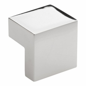Atlas Homewares - A865-PN - Small Square Knob 16MM CC - Polished Nickel