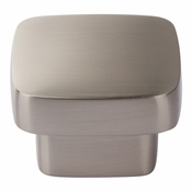 Atlas Homewares - A910-BN - Chunky Square Knob Large 1 13/16 Inch - Brushed Nickel