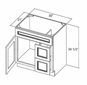 Drawers On The Right Gl Fa3021dr