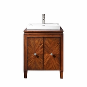 Avanity Brentwood 25 in. Vanity in New Walnut Finish with Semi-Recessed Sink - BRENTWOOD-VS25-NW