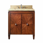 Avanity Brentwood 31 in. Vanity in New Walnut Finish with Galala Beige Marble Top - BRENTWOOD-VS31-NW-B
