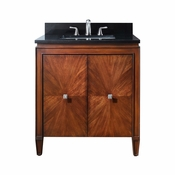 Avanity Brentwood 31 in. Vanity in New Walnut Finish with Black Granite Top - BRENTWOOD-VS31-NW-A