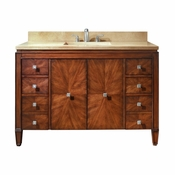 Avanity Brentwood 49 in. Vanity in New Walnut Finish with Galala Beige Marble Top - BRENTWOOD-VS49-NW-B