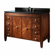 Avanity Brentwood 49 in. Vanity in New Walnut Finish with Black Granite Top - BRENTWOOD-VS49-NW-A