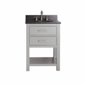 Avanity Brooks 25 in. Vanity in Chilled Gray Finish with Black Granite Top - BROOKS-VS24-CG-A