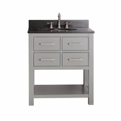 Avanity Brooks 31 in. Vanity in Chilled Gray Finish with Black Granite Top - BROOKS-VS30-CG-A