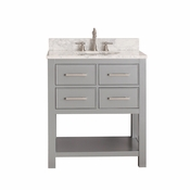 Avanity Brooks 30 in. Vanity Only in Chilled Gray Finish - BROOKS-V30-CG