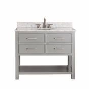 Avanity Brooks 42 in. Vanity Only in Chilled Gray Finish - BROOKS-V42-CG