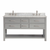 Avanity Brooks 60 in. Vanity Only in Chilled Gray Finish - BROOKS-V60-CG