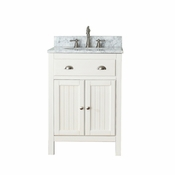 Avanity Hamilton 25 in. Vanity in French White Finish with Carrera White Marble Top - HAMILTON-VS24-FW-C
