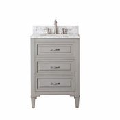 Avanity Kelly 25 in. Vanity in Grayish Blue Finish with Carrera White Marble Top - KELLY-VS24-GB-C