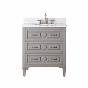 Avanity Kelly 31 in. Vanity in Grayish Blue Finish with Carrera White Marble Top - KELLY-VS30-GB-C