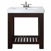 Avanity Lexi 30 in. Vanity in Light Espresso Finish with Integrated Vitreous China Top - LEXI-VS30-LE