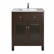 Avanity Lexington 25 in. Vanity in Light Espresso Finish with Integrated Vitreous China Top - LEXINGTON-VS24-LE