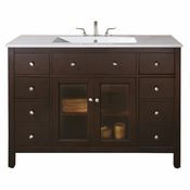 Avanity Lexington 49 in. Vanity in Light Espresso Finish with Integrated Vitreous China Top - LEXINGTON-VS48-LE