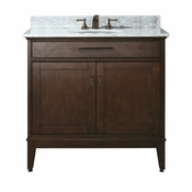 Avanity Madison 37 in. Vanity in Tobacco Finish with Carrera White Marble Top - MADISON-VS36-TO-C