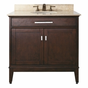 Avanity Madison 36 in. Vanity Only in Light Espresso Finish - MADISON-V36-LE