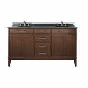 Avanity Madison 61 in. Double Vanity in Tobacco Finish with Black Granite Top - MADISON-VS60-TO-A