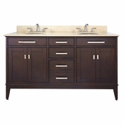 Avanity Madison 60 in. Vanity Only in Light Espresso Finish - MADISON-V60-LE