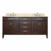 Avanity Madison 72 in. Vanity Only in Light Espresso Finish - MADISON-V72-LE