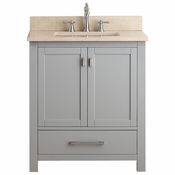 Avanity Modero 31 in. Vanity in Chilled Gray Finish with Galala Beige Marble Top - MODERO-VS30-CG-B