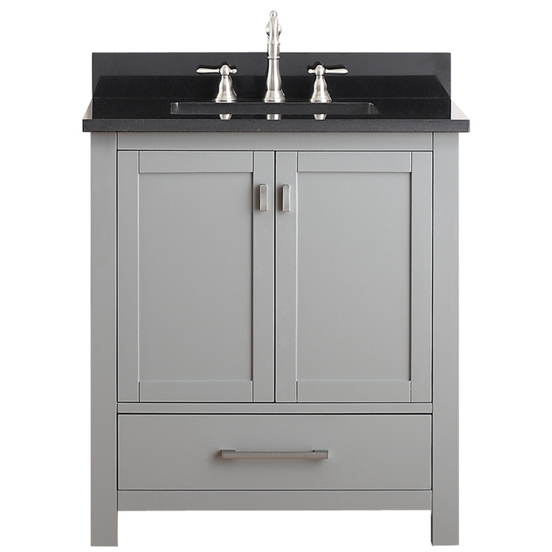 Avanity Modero 31 In Vanity In Chilled Gray Finish With
