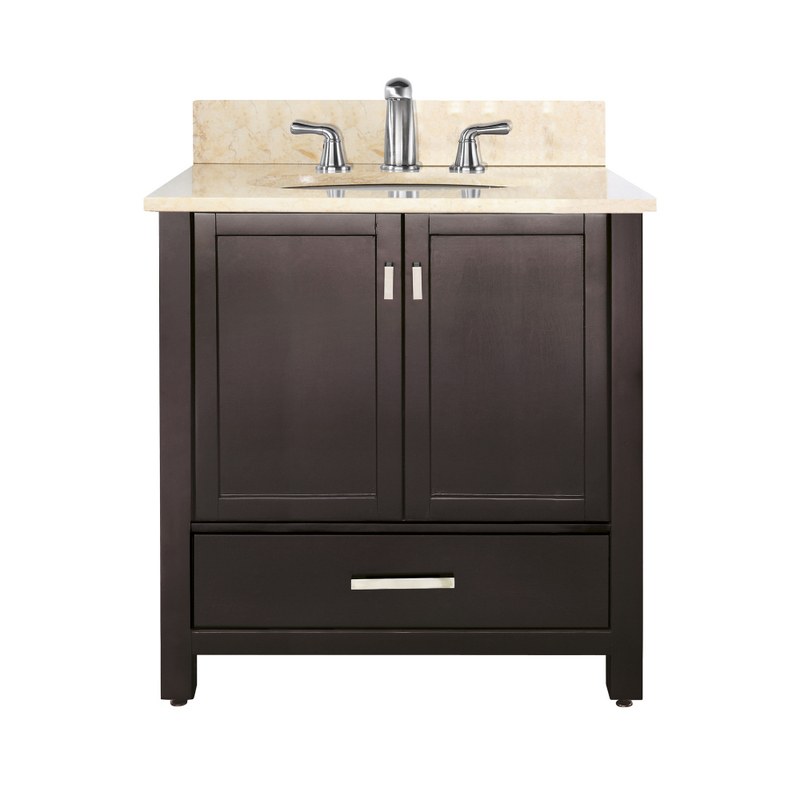Avanity Modero 37 In Vanity In Espresso Finish With Galala Beige Marble Top Modero Vs36 Es B