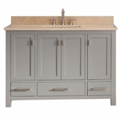 Avanity Modero 49 in. Vanity in Chilled Gray Finish with Galala Beige Marble Top - MODERO-VS48-CG-B