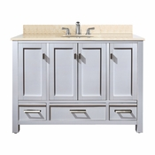 Avanity Modero 49 in. Vanity in White Finish with Galala Beige Marble Top - MODERO-VS48-WT-B