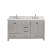 Avanity Modero 60 in. Double Vanity Only in Chilled Gray Finish - MODERO-V60-CG
