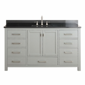 Avanity Modero 61 in. Single Vanity in Chilled Gray Finish with Black Granite Top - MODERO-VS60-CG-A-A