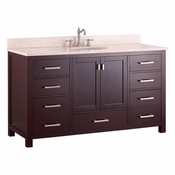 Avanity Modero 61 in. Single Vanity in Espresso Finish with Galala Beige Marble Top - MODERO-VS60-ES-A-B