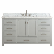 Avanity Modero 60 in. Single Vanity Only in Chilled Gray Finish - MODERO-V60-CG-A
