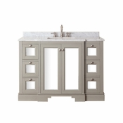 Avanity Newport 49 in. Vanity in French Gray Finish with Carrera White Marble Top - NEWPORT-VS48-FG