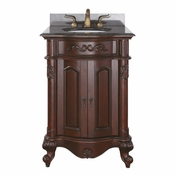 Avanity Provence 24 in. Vanity Only in Antique Cherry Finish - PROVENCE-V24-AC