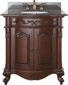 Avanity Provence 30 in. Vanity Only in Antique Cherry Finish - PROVENCE-V30-AC
