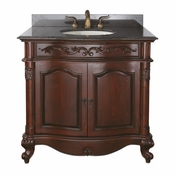Avanity Provence 36 in. Vanity Only in Antique Cherry Finish - PROVENCE-V36-AC