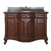 Avanity Provence 48 in. Vanity Only in Antique Cherry Finish - PROVENCE-V48-AC