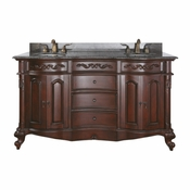 Avanity Provence 60 in. Vanity Only in Antique Cherry Finish - PROVENCE-V60-AC