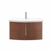 Avanity Siena 36 in. Vanity in Chestnut Finish with Integrated Vitreous China Top - SIENA-VS36-CH