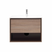 Avanity Sonoma 31 in. Vanity in Restored Khaki Wood Finish with Integrated Vitreous China Top - SONOMA-VS31-RK